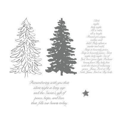 Evergreen Stamp set by Stampin Up