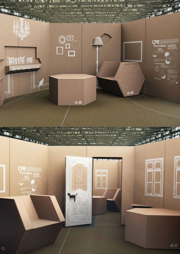 Re using cardboard interior design pinterest for Furniture design exhibition