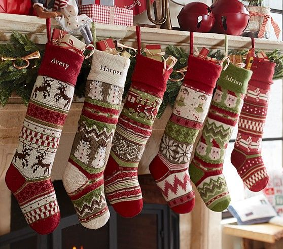 Rustic Christmas Decorating Ideas | Fair isles, Stockings and ...