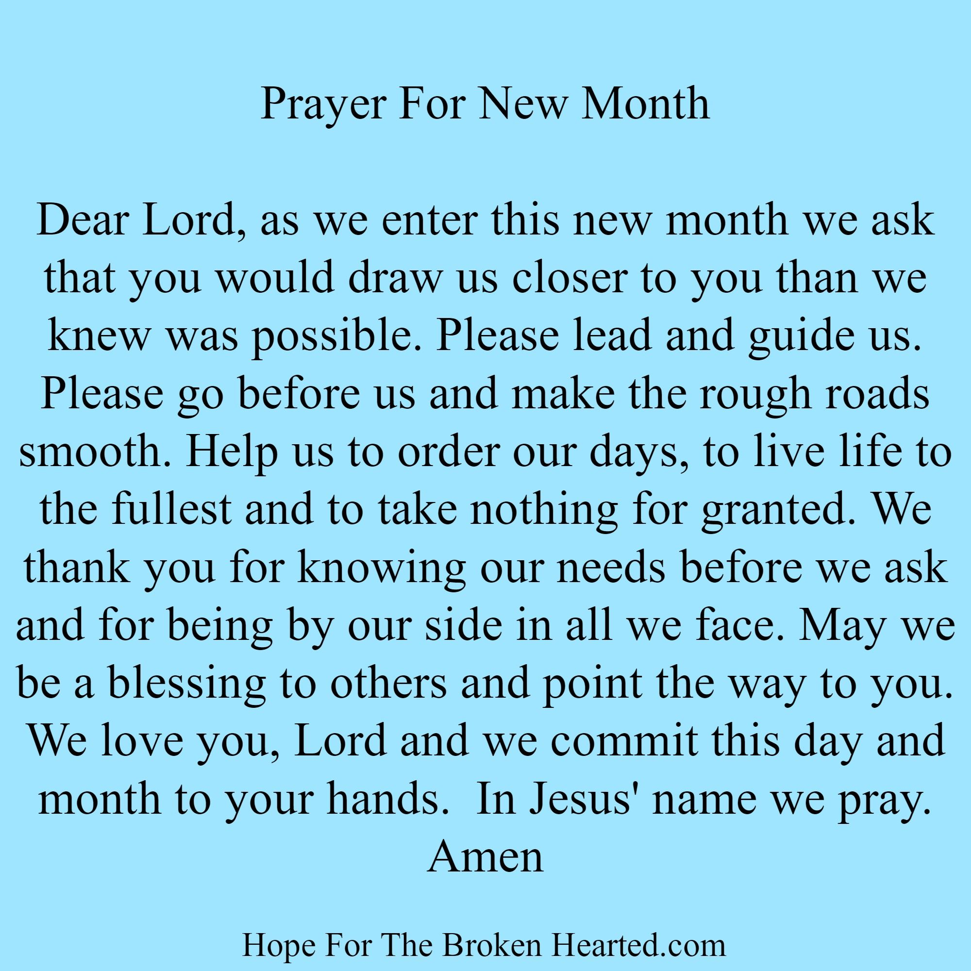 Prayer for new month prayer wall prayer verses god prayer power of prayer
