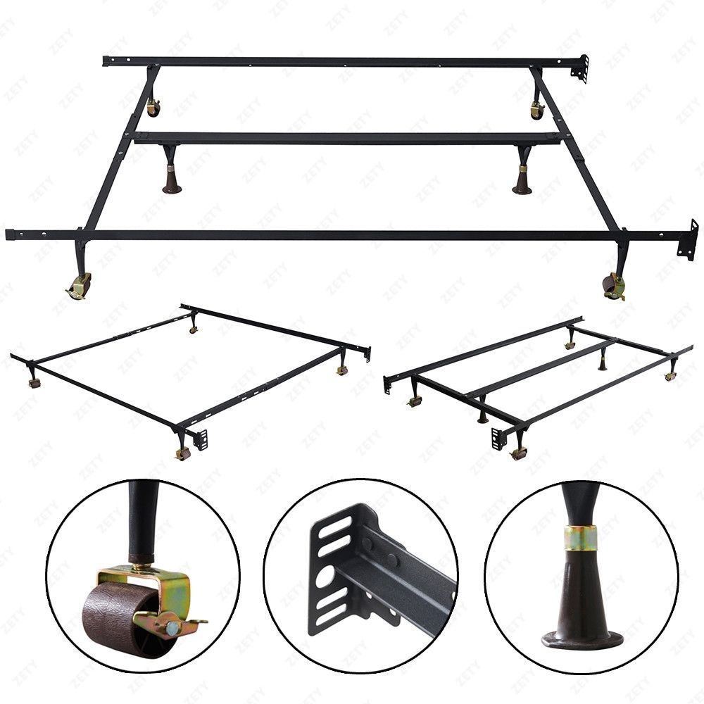 Adjustable Metal Bed Frame Twin Full Queen Size Heavy Duty With