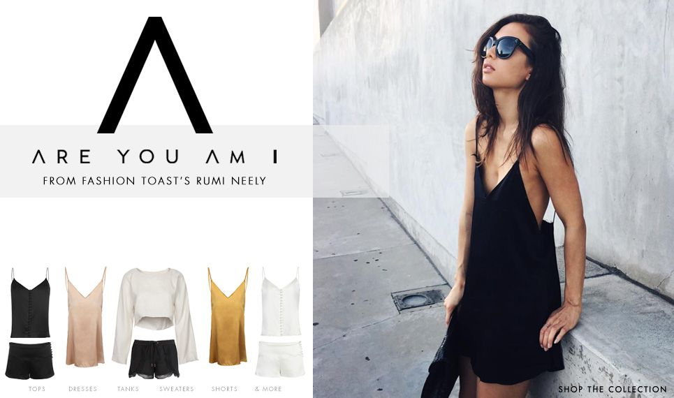 Are You Am I from Fashion Toast's Rumi Neely now available online at www.ronherman.com and select Ron Herman store locations.