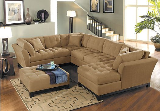 Shop for a cindy crawford home metropolis peat right 4 for Buy living room furniture