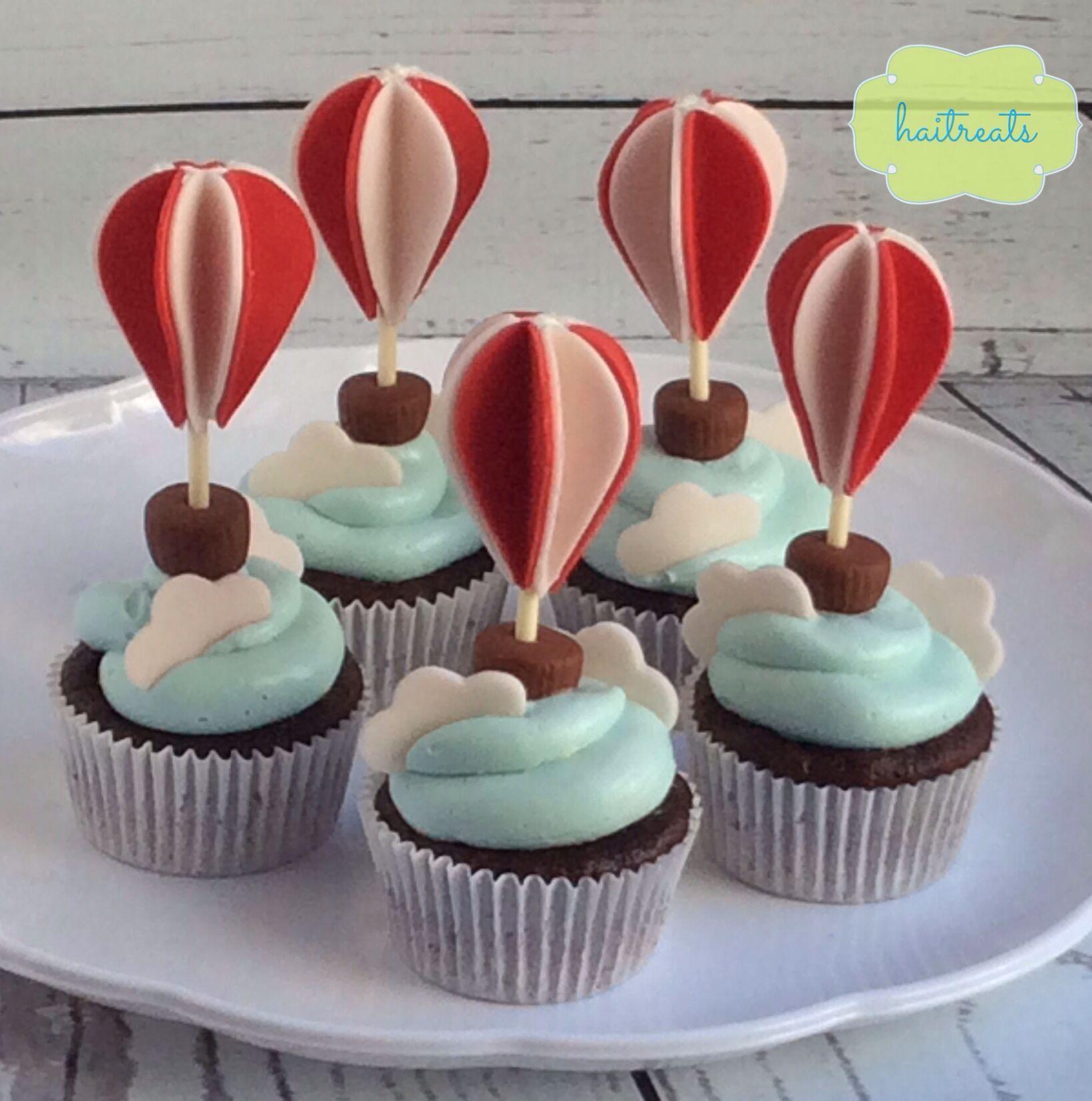 Hot air balloon cupcakes | Hot air balloon cake, Balloon ...