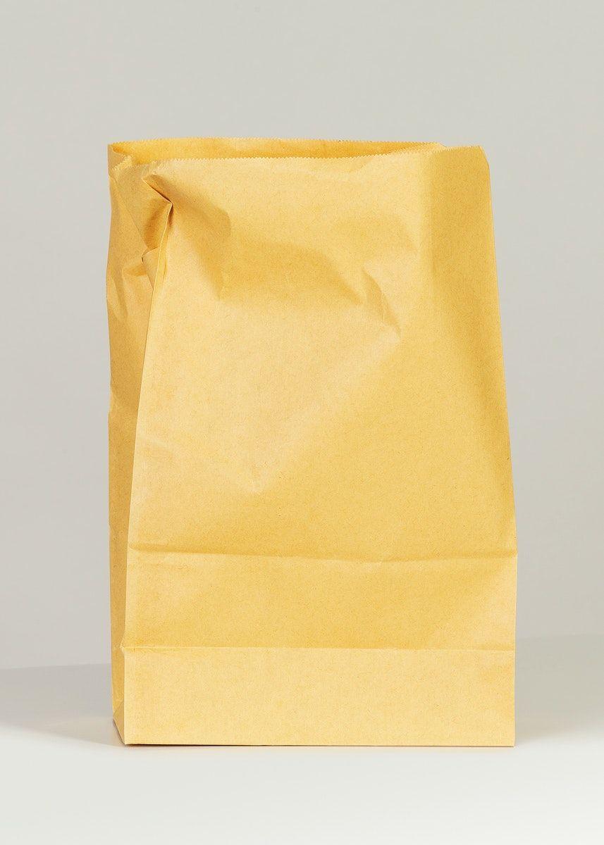 Download Download Premium Image Of Brown Paper Bag Mockup On A Gray Background Brown Paper Bag Bag Mockup Brown Paper