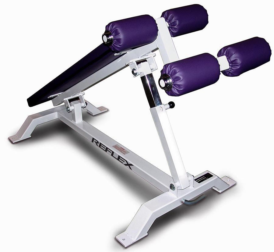 Reflex Fitness Adjustable Decline Sit Up Bench R0015 Wh 150dpi Mid At Home Gym Workout Machines No Equipment Workout