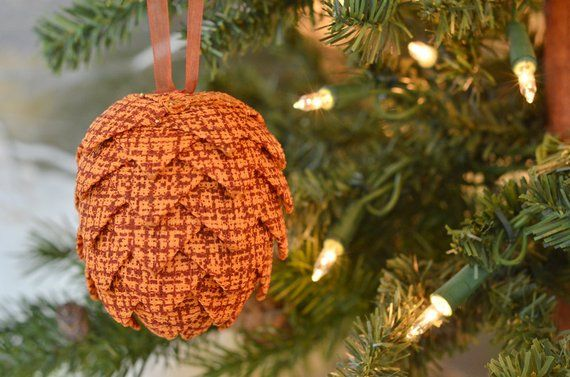 Orange Christmas Ornament Autumn Colors Thanksgiving Tree Home Decor