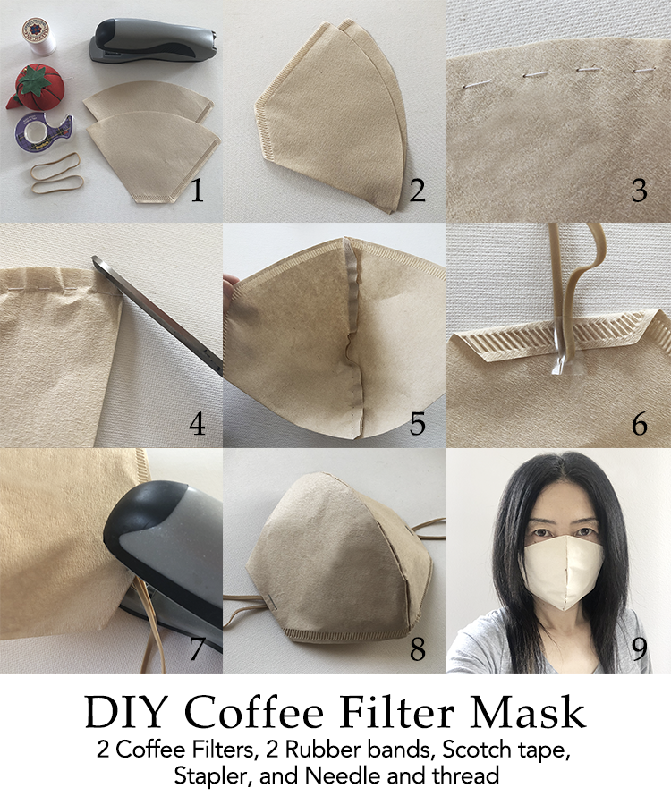 DIY Coffee Filter Face Mask in 2020 Coffee face mask