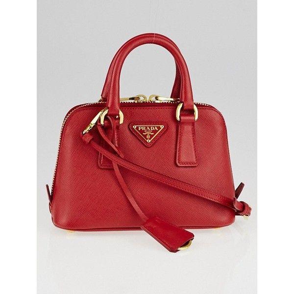 58e15edb9f4c ... greece pre owned prada red saffiano lux leather mini bag bl0851 2795  sar bd2d6 bf657