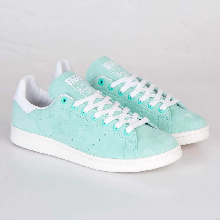 ADIDAS ORIGINALS STAN SMITH MINT GREEN SUEDE TRAINERS D67364 ...
