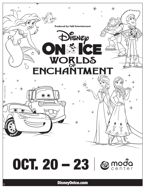 Printable Disney In Ice Worlds Of Enchantment Coloring Page Life She Has Coloring Pages Disney Disney On Ice