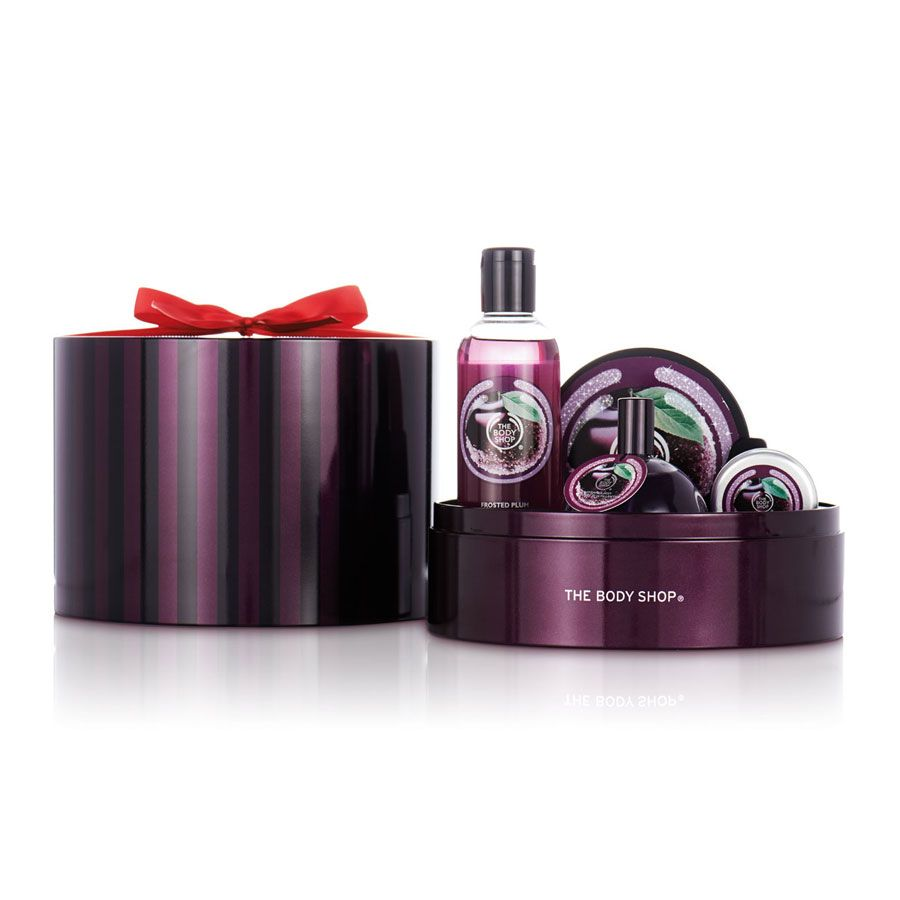 Christmas Gift Sets Body Shop.Frosted Plum Tin Of Delights Gift Set The Body Shop