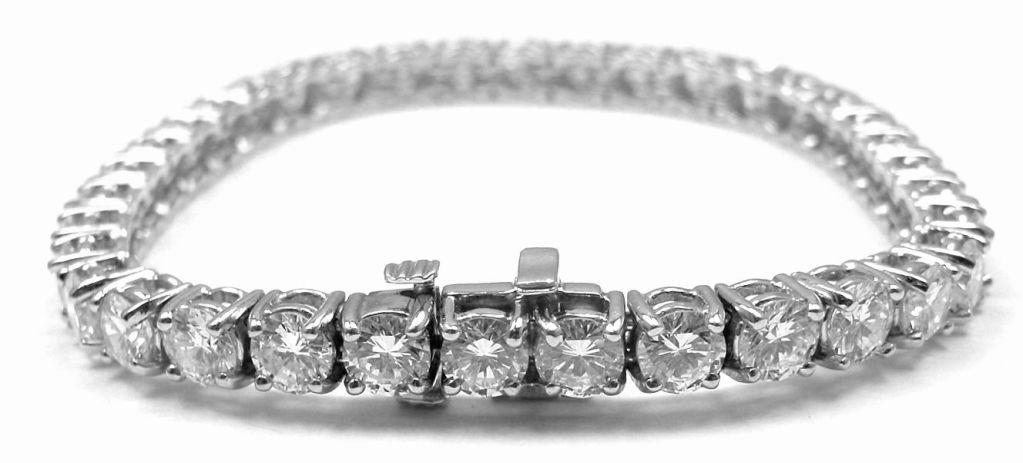 Tiffany & Co. 9.23ct Diamond Platinum Tennis Bracelet | From a unique collection of vintage tennis bracelets at http://www.1stdibs.com/jewelry/bracelets/tennis-bracelets/