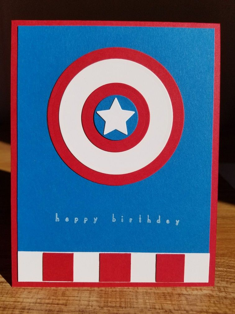Captain America Birthday Card Birthday Cards Pinterest