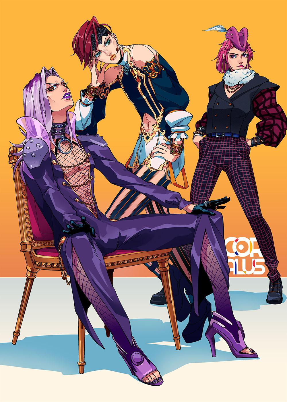 Abbachio Rohan And Narciso By Pixiv Id 46055790 Jojo Anime Jojo Bizzare Adventure Jojo Bizarre