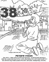 Peter And Cornelius Coloring Page : peter, cornelius, coloring, Peter, Vision, Cornelius, Coloring, Sketch, Pages,, Bible