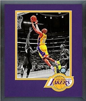 Kobe Bryant Framed With Team Color Double Matting Ready To Hang- Awesome & Beautiful