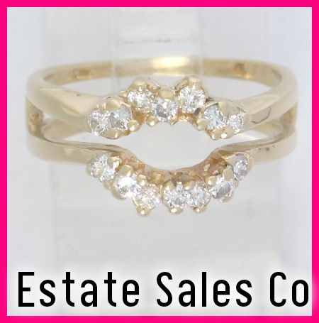 Images Solitaire Ring Wraps Yellow Gold Round Diamond Solitaire Enhancer Jacket Wrap Ring 4 Diamond Solitaire Enhancer Yellow Gold Round Diamond Diamond