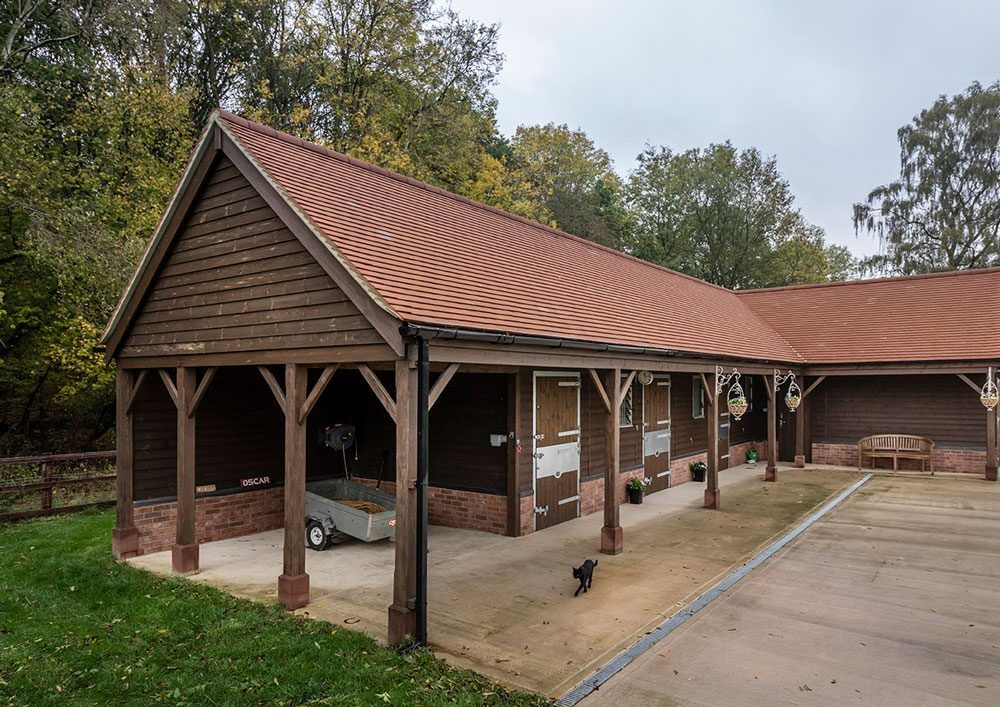 Timber stables designed and manufactured by Scotts