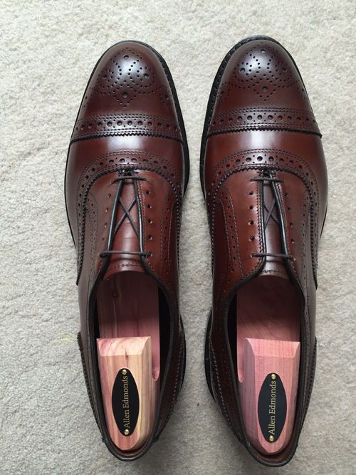 564290e3a00d Allen Edmonds Dark Chili Strands