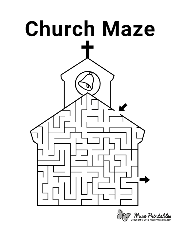 Pin by Muse Printables on Mazes Maze, Sunday school