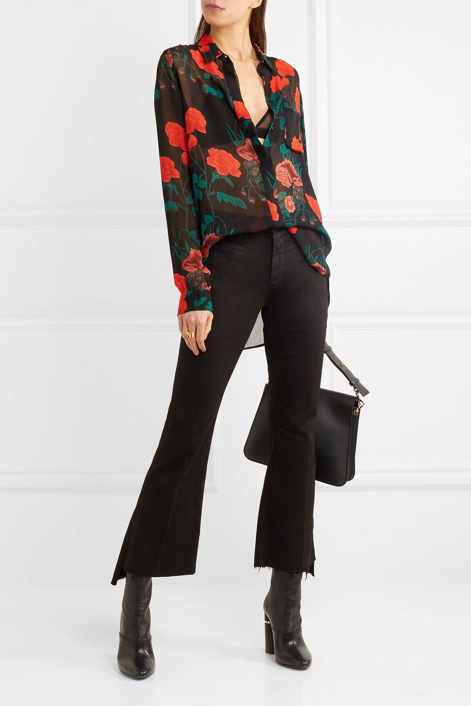421957a0 GANNI | Newman floral-print georgette shirt | NET-A-PORTER.COM ...