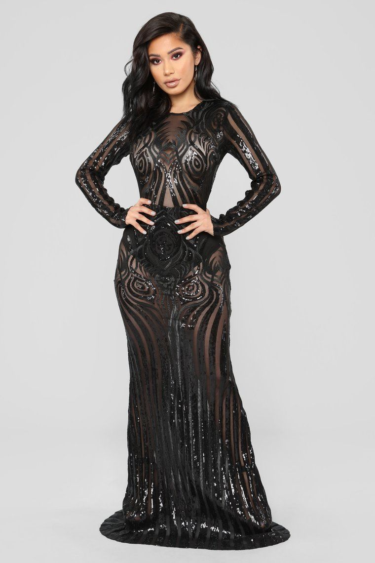 Don t Need Another Lover Sequin Dress - Black  24db1f558