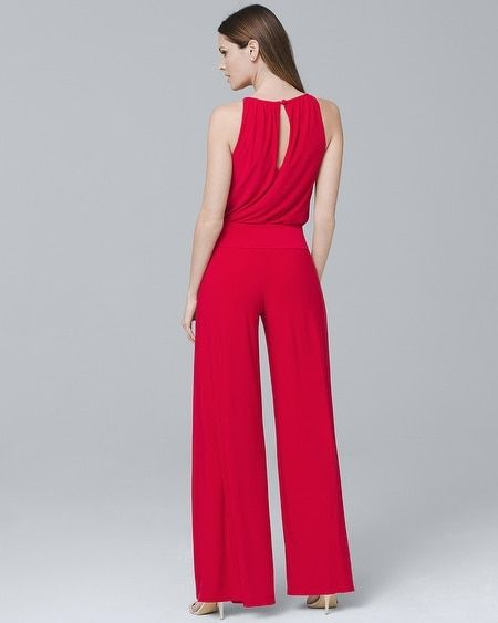 5c5d9a36501d Women s Wide-Leg Keyhole Jumpsuit by White House Black Market Wide Leg