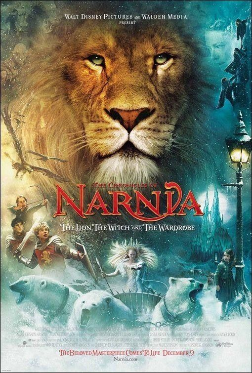 The Chronicles of Narnia: The Lion, the Witch and the Wardrobe (2005) starring William Moseley, Anna Popplewell, Skandar Keynes, Georgie Henley, Tilda Swinson, Liam Neeson, James McAvoy, Jim Broadbent and Ray Winstone