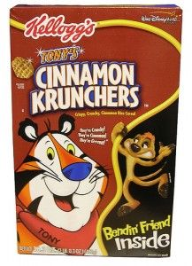 Basically they were cinnamon Frosted Flakes. I used to put cinnamon sugar in my FF anyhow, so apparently I need to go back to that again.