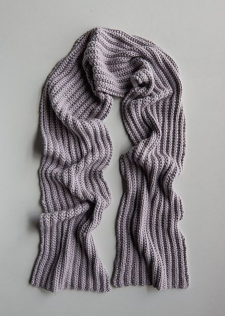 No Purl Ribbed Scarf Pattern By Purl Soho Knitting Unisex Scarves
