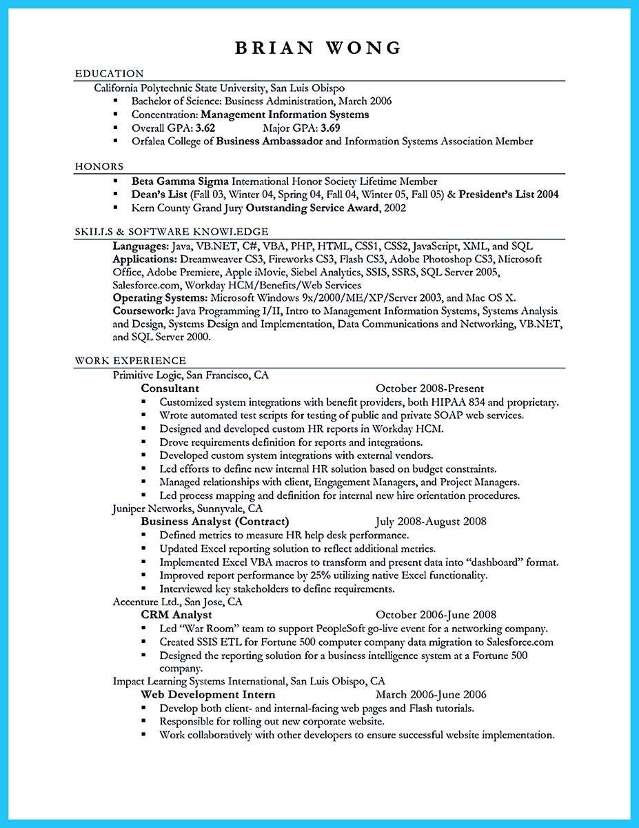 nice appealing formula for wonderful business administration resume
