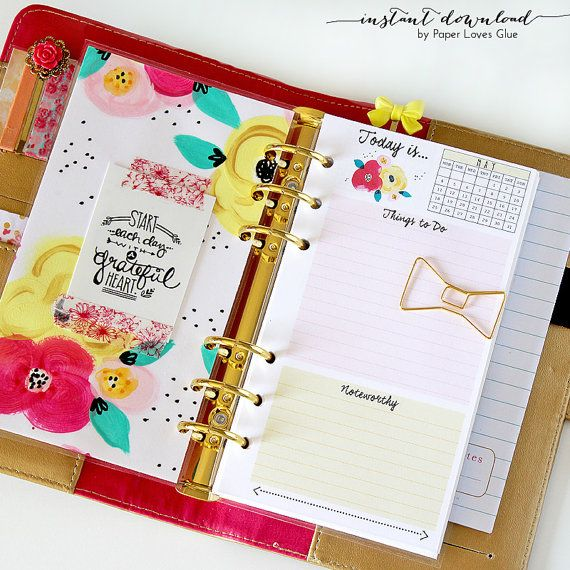 Personal Planner Size - Daily To Do Calendar 2015 & 2016, Monthly