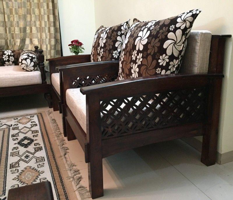 Lotus Wooden Sofa | Wooden sofa, Wooden sofa set ...