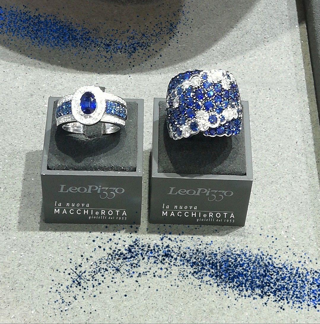 Fantastici anelli, Leo Pizzo, in oro bianco con diamanti e