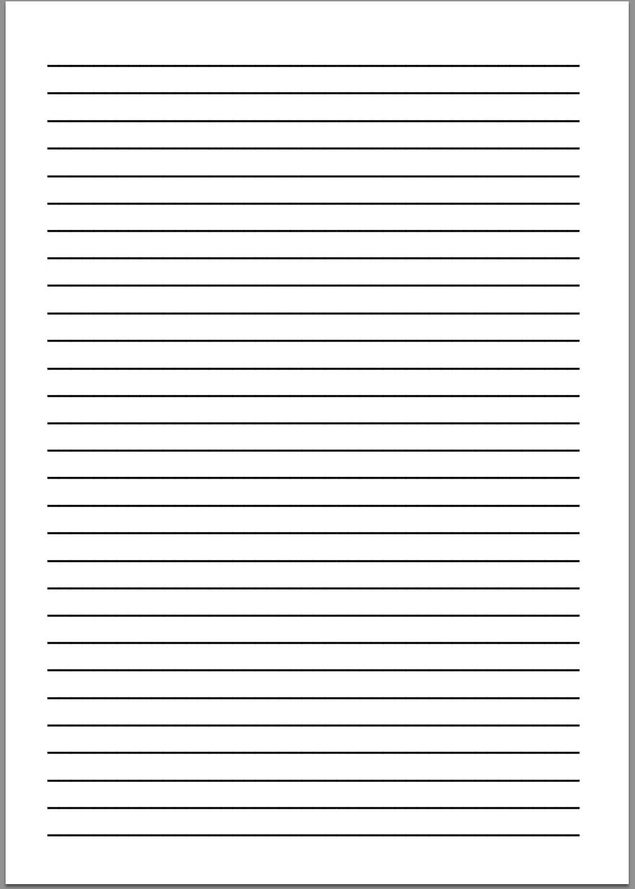 montessori writing paper