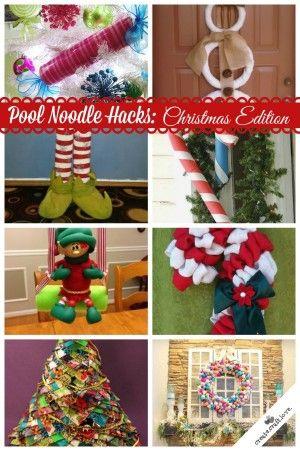 Pool Noodle Hacks Christmas Edition #poolnoodlewreath