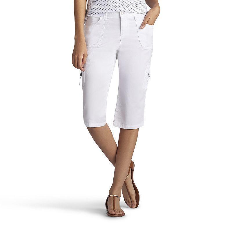 Petite Lee Edy Skimmer Capris, Women's, Size: 16 Petite, White ...