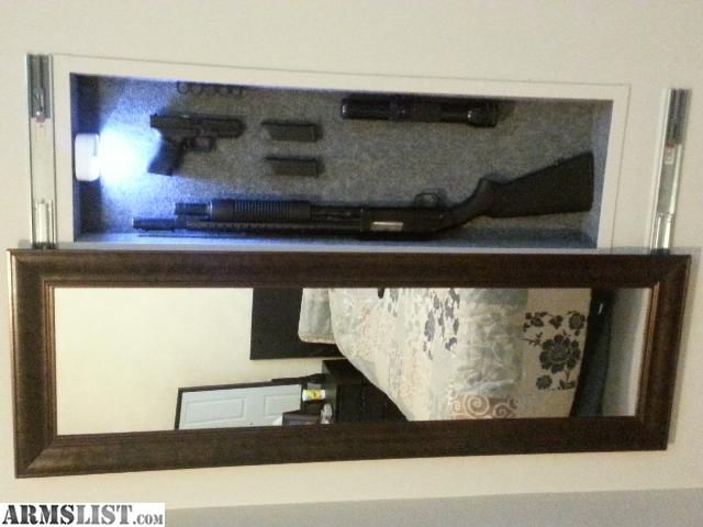 hidden gun safe mirror | armslist on facebook armslist twitter