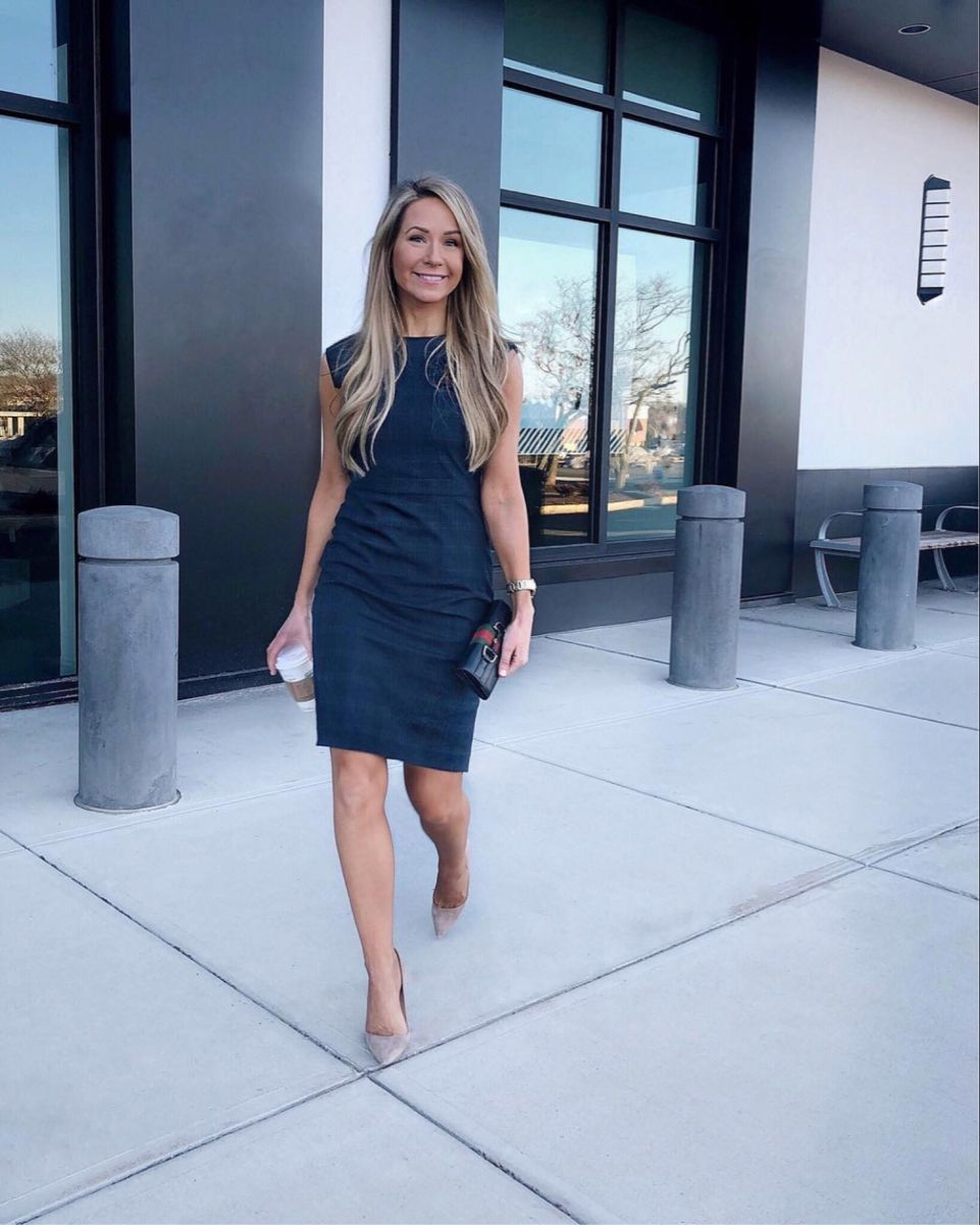 Dress For Work Click The Photo To Shop Work Dresses For Women Business Outfits Women Business Professional Attire [ 1200 x 961 Pixel ]