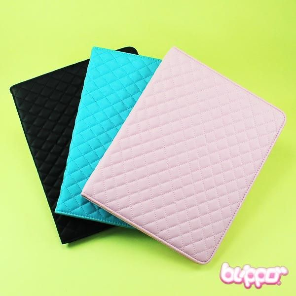 Protective leather folio case for iPad