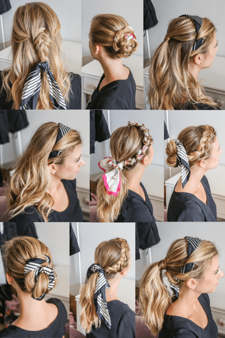 How To Wear A Hair Scarf 9 Cool Ways To Look Stylish Running In Heels Hair Scarf Styles Hair Styles Scarf Hairstyles