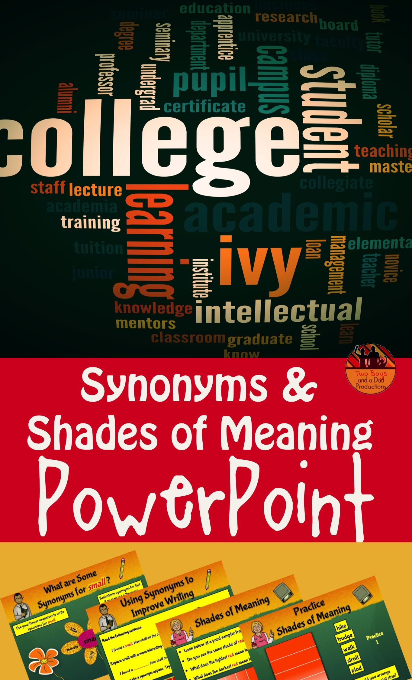 Synonyms And Shades Of Meaning Powerpoint Lessons And