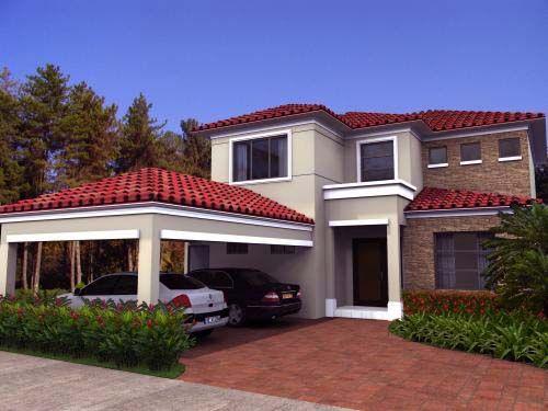 Modelos de casas en ecuador 5 casa mia front pinterest for Casas con techo de teja