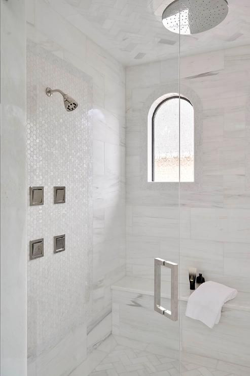 Stunning Walk In Shower Is Fitted With A Seamless Glass Door Opening
