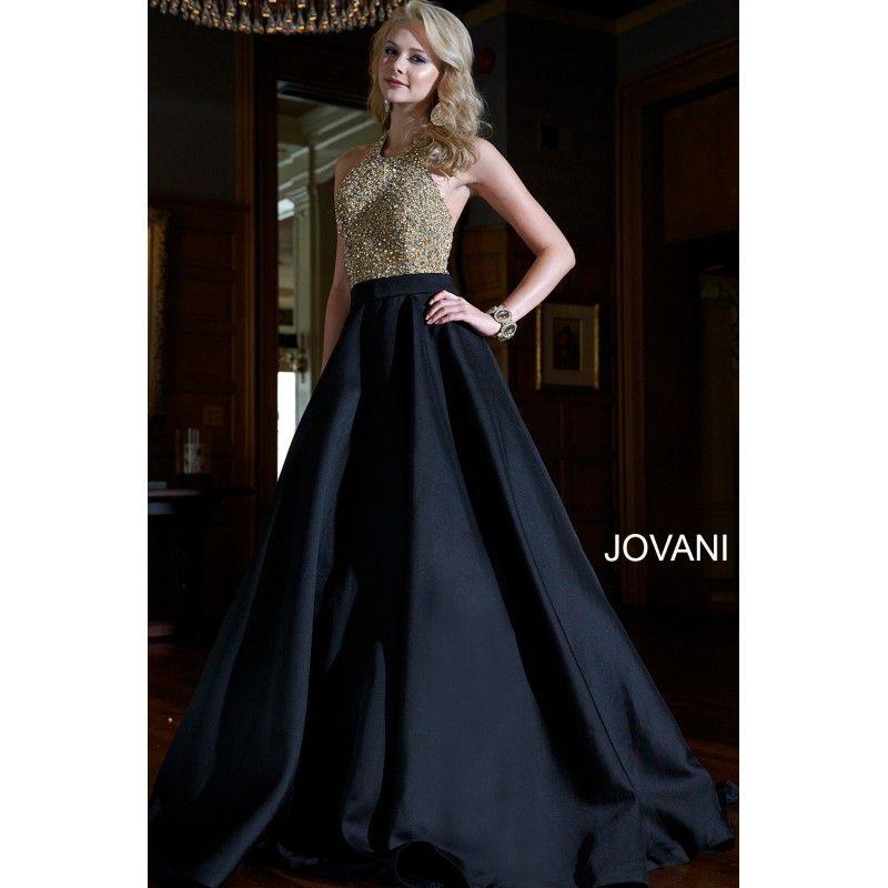 Black a Line Prom Dresses