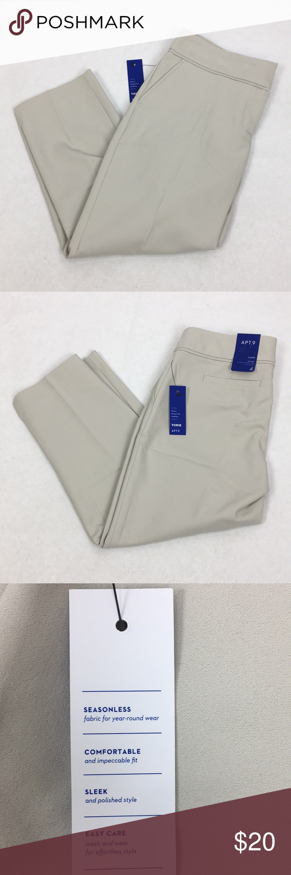 dbbf9b084b1 NWT Apt 9 Torie Capris SZ 4 Crop Dress Pants Brand new pair of women s Apt