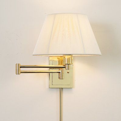 Designer Swing Arm Wall Lamp No Shade