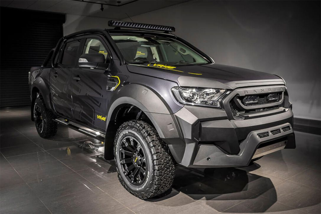 The Blacked Out Ford Ranger Vr46 Looks Straight From The Batcave