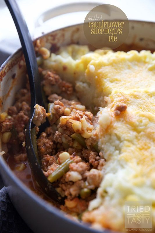 Mashed Cauliflower Shepherd S Pie Video Recipe Cauliflower Shepherd S Pie Recipes 100 Healthy Dinner Recipes
